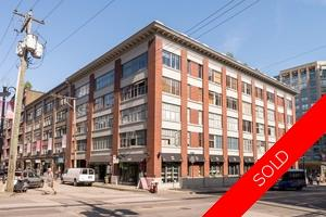 Yaletown Loft/Warehouse Conversion for sale: The Hamilton 1 bedroom 741 sq.ft. (Listed 2016-04-22)